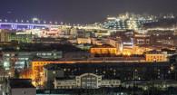 Ночной Барнаул с высоты.