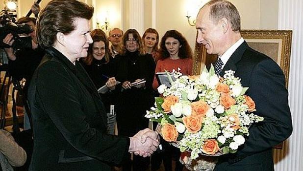 Валентина Терешкова и Владимир Путин, 2007.