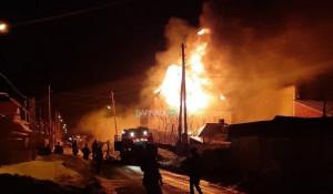 Пожар в частном доме. Барнаул.
