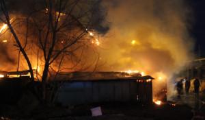 Пожары в частных домах.