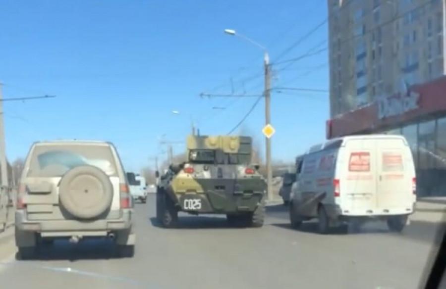 Военная техника в Барнауле.