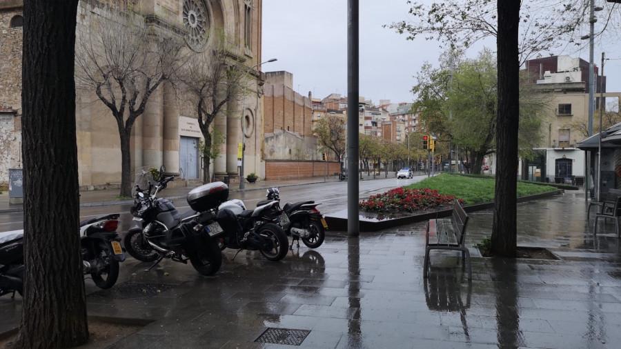 Опустевшая Барселона.