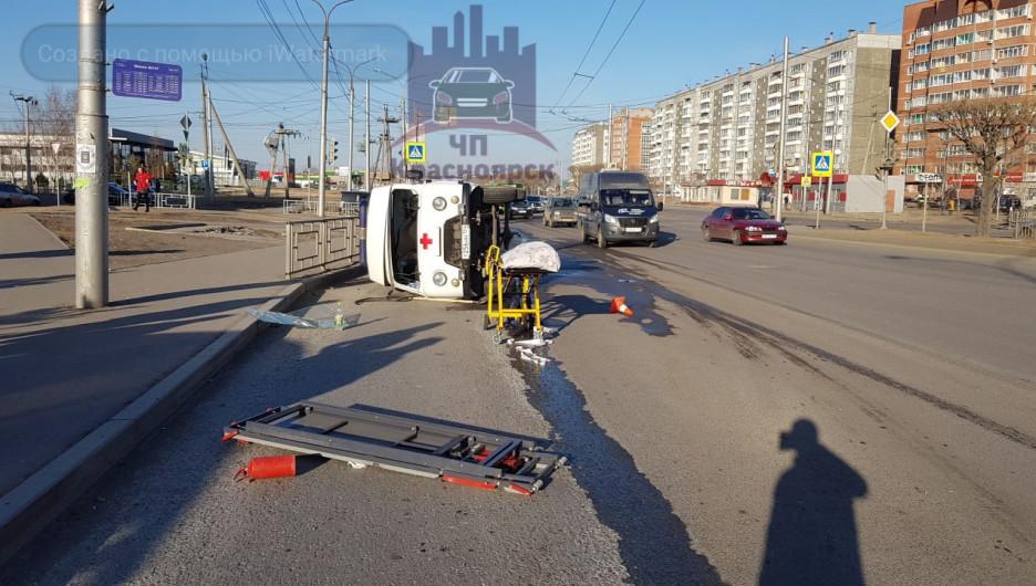ДТП с машиной скорой помощи. Красноярск.