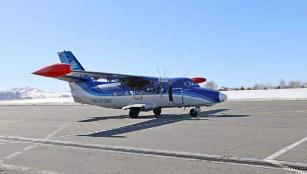 Самолет авиакомпании «СиЛА» в Республике Алтай.