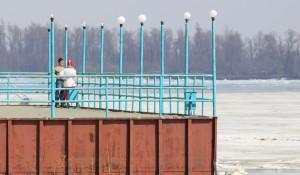 Барнаул перед началом ледохода.