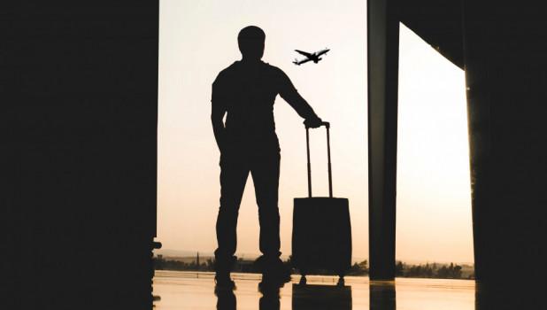 Аэропорт, турист.