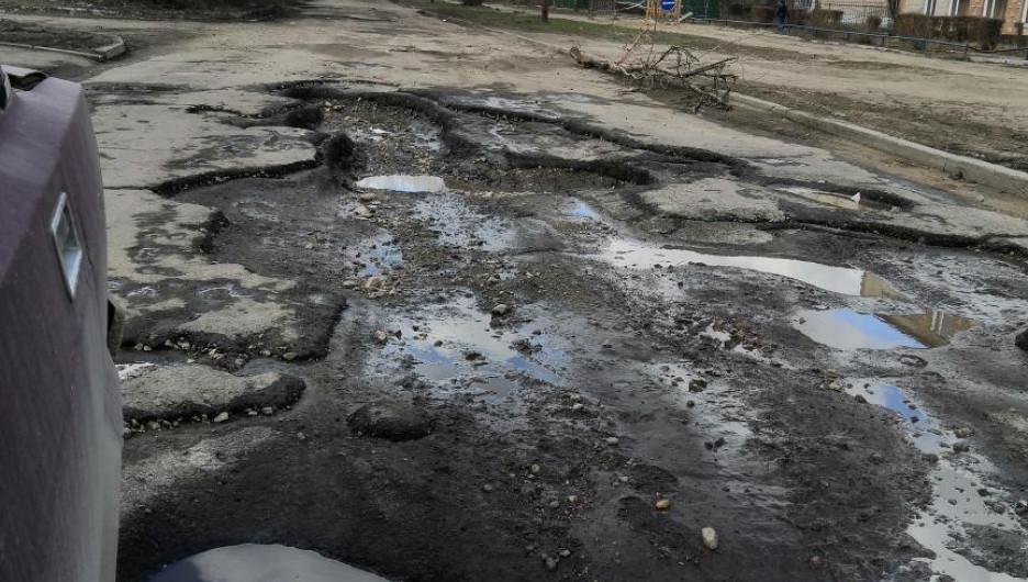 Бульвар Победы в Рубцовске.