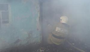 Пожарные в дыму.