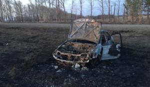 Автомобиль сгорел под Бийском.