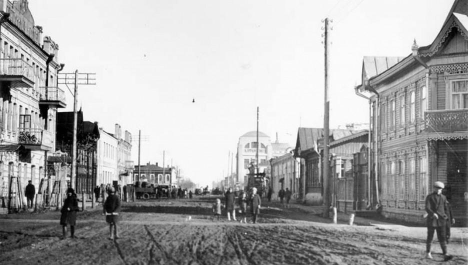 Исторические кадры старого Барнаула