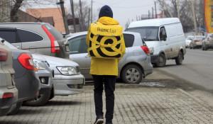 "Курьер сервиса ""Яндекс.Еда""."