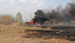 Пожар в селе Боровлянка.