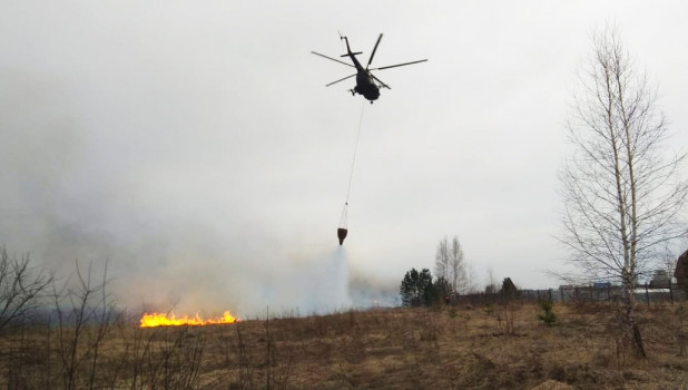 Ликвидация ландшафтных пожаров в Новосибирской области.