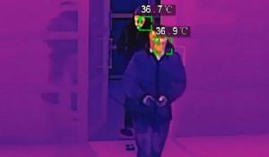 Бесконтактное измерение температуры тела в местах массового скопления людей.
