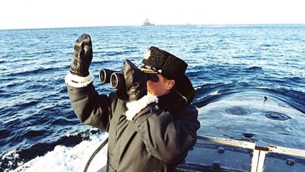 """Владимир Путин на атомном подводном ракетоносце """"Карелия"""", 2000 г.."""