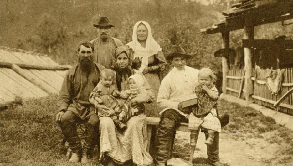Сибирская семья, конец XIX века.