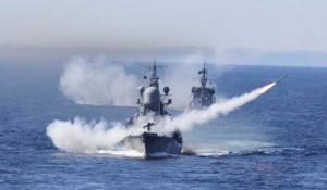 Надводные силы Северного флота в Баренцевом море.