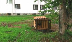 Перевернутый туалет в Заринске.