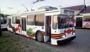 Троллейбус в Рубцовске.