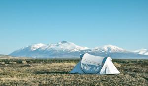 Палатка в горах.