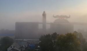 Туман в Барнауле 22 мая.