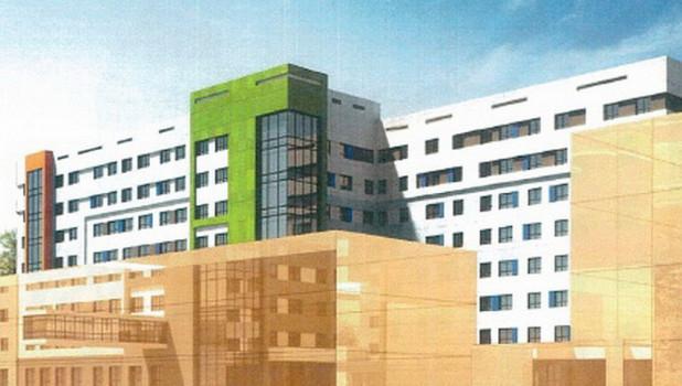 Новый корпус Центра охраны материнства и детства в Барнауле.