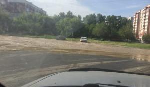 Потоп на ул. Антона Петрова.