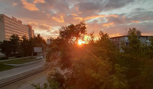Яркий закат в Барнауле