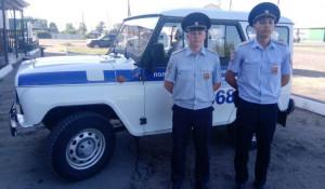 Полицейские из Волчихи.