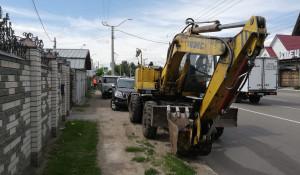Коммунальная авария на улице Северо-Западная.