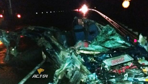 Авария под Новосибирском.