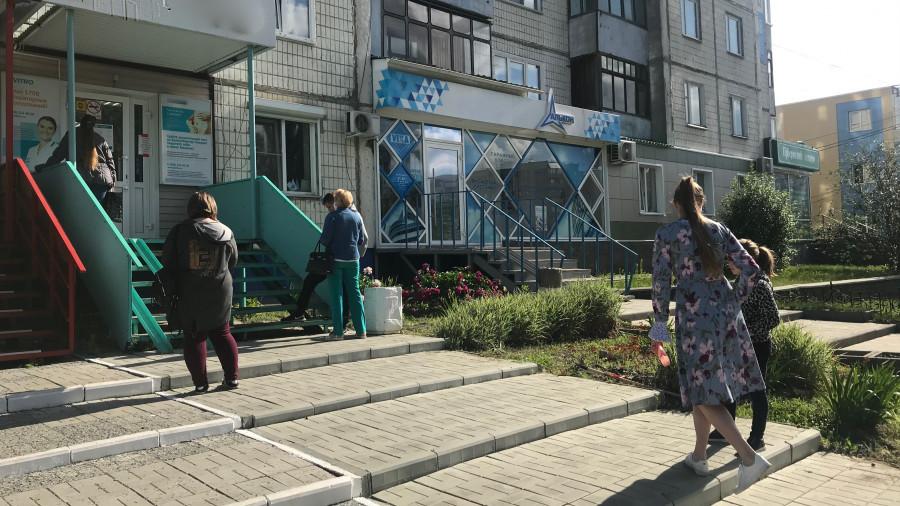 В медицинском центре в Барнауле.