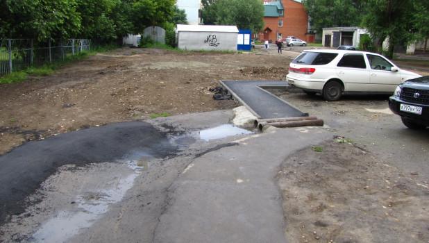 Тротуар на ул. Попова