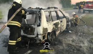 На трассе в Алтайском крае сгорел автомобиль.