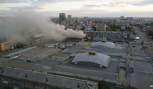 Пожар в Новосибирске.