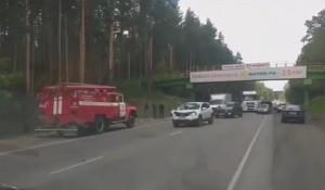 ДТП на объездной дороге в Барнауле.