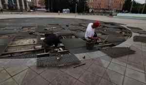 Светомузыкальный фонтан в Рубцовске.