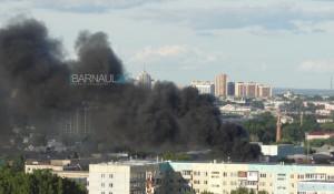 Пожар в районе ул. Сельскохозяйственная, 4е.