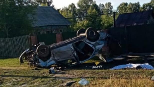 Смертельное ДТП в селе Усть-Алеус Ордынского района.