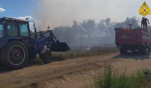 Ландшафтный пожар в Алтайском крае.