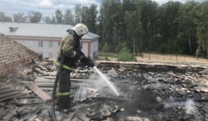 Пожар в Тальменке.
