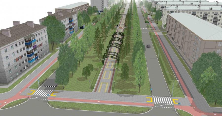 Таким был проект создания велодорожек на улице Исакова в Барнауле.