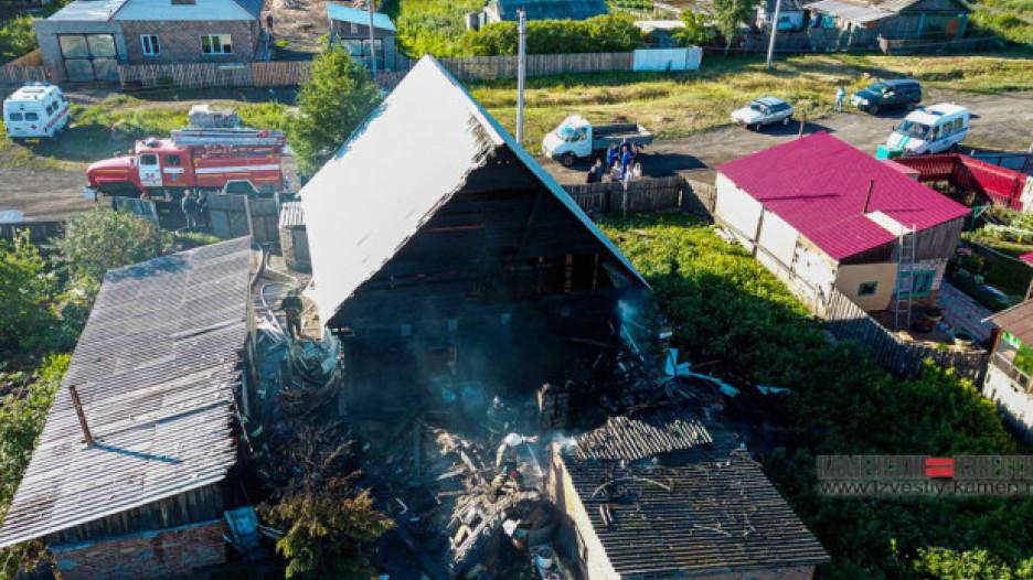 Пожар в Камне-на-Оби 29 июня 2020 года.
