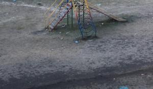 Детская площадка в Барнауле.