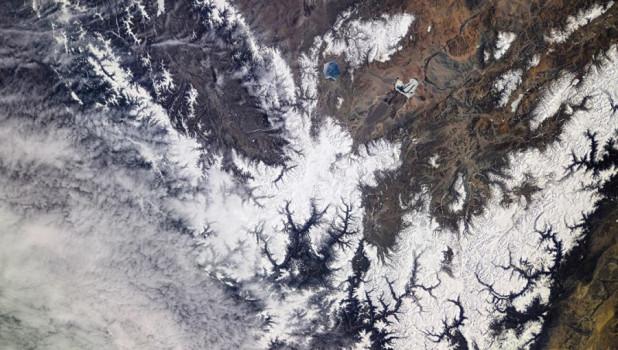 Фото Алтая из космоса.