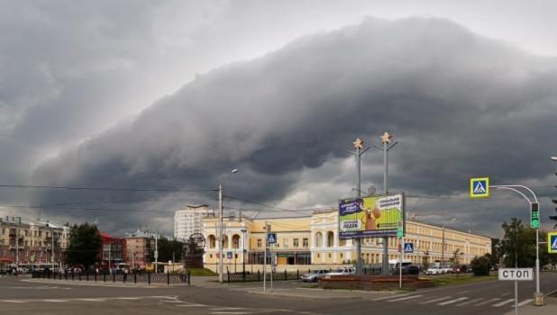 Шторм в Барнауле 9 июля 2020.