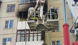 Пожар на балконе. Барнаул.