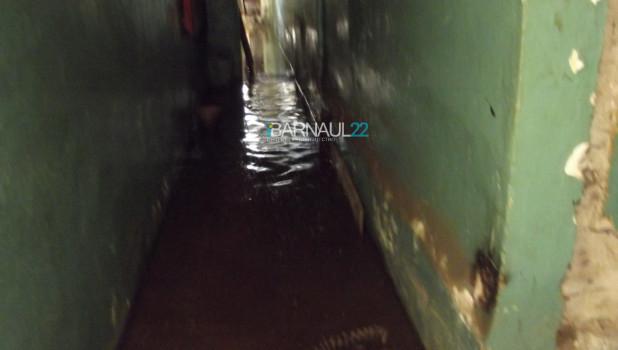 В многоэтажке затопило подвал.