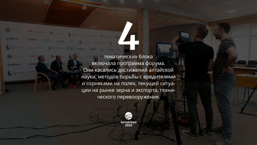 """Форум """"Алтай Агро 2020"""" в цифрах и фактах."""