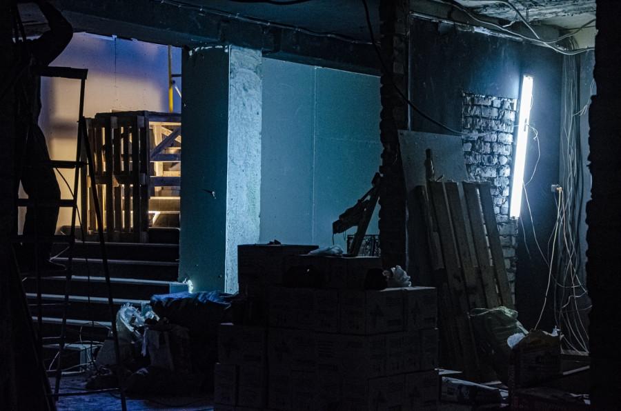 """Ремонт в новом помещении """"Крепостного театра""""."""